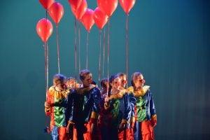Klovner med ballonger