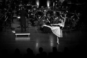 Karin på nyttårskonserten 2018 med Bærum Symfoniorkester