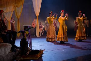Aurora, Thale og Embla danser flamenco- Froskeprinsen 2018