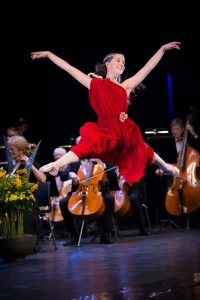 Johanne på nyttårskonserten 2019 med Bærum Symfoniorkester